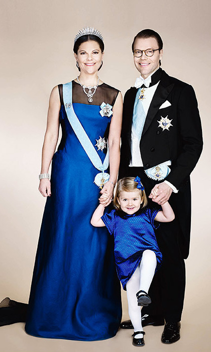 September 2015: Princess Estelle added a playful touch to a very regal official family portrait. 