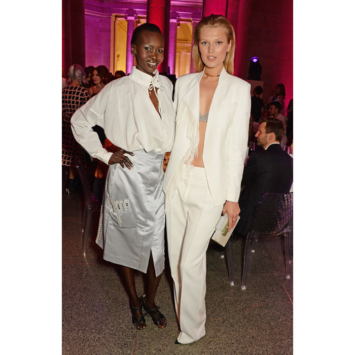 Alek Wek and Toni Gaarn.