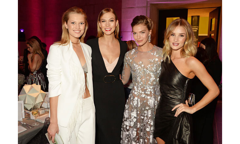Tuesday night saw a host of supermodels unite for a swanky fashion bash in London.