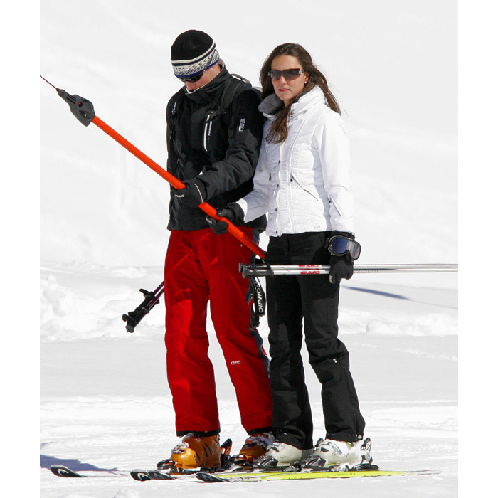William and Kate hit the slopes in 2008 when the duo were spotted skiing in Klosters in Switzerland.