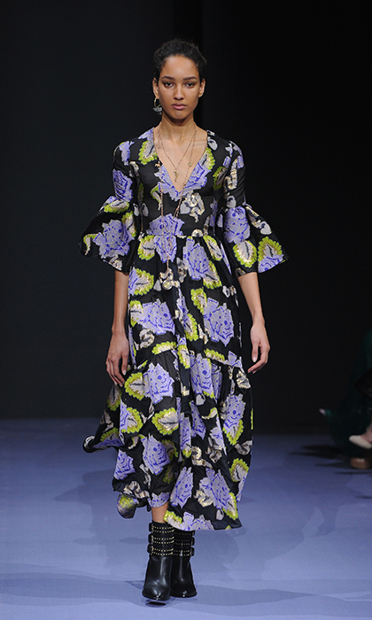 Sophie's flair for the boho-chic aesthetic would makes her the perfect match for this floral gown by Peter Pilotto.