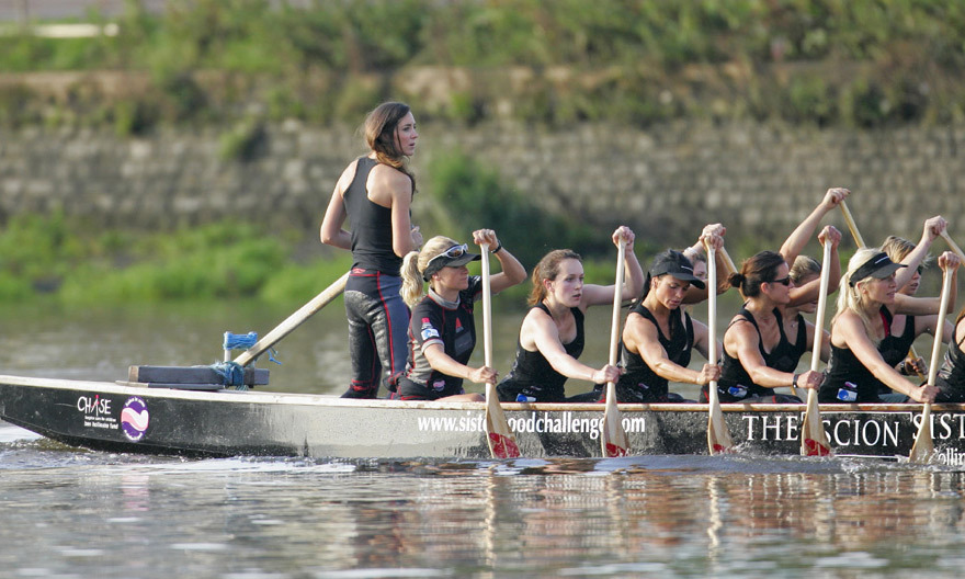 When William and Kate briefly split in 2007 the Duchess joined the Sisterhood rowing team. Kate became fully involved in the 21-strong female crew of as they undertook months of training on the River Thames in preparation to cross the English Channel for charity.