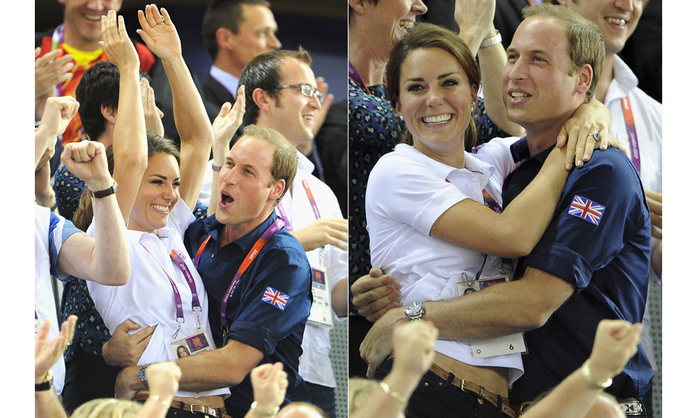 The royal couple coudln't contain their excitement when Sir Chris Hoy won his fifth Olympic gold medal.