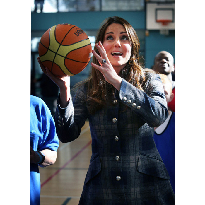 She also gave basketball a try.