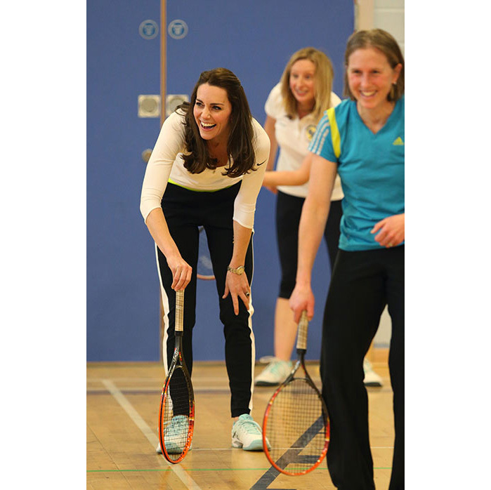 One of the shared passions which originally brought William and Kate together was their mutual love of sport. So it's no surprise to see Kate join in the fun from time to time.