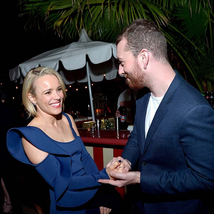 Rachel McAdams had a charming encounter with fellow Oscar nominee Sam Smith at a special dinner honouring <i>Spotlight</i> at the Chateau Marmont. 