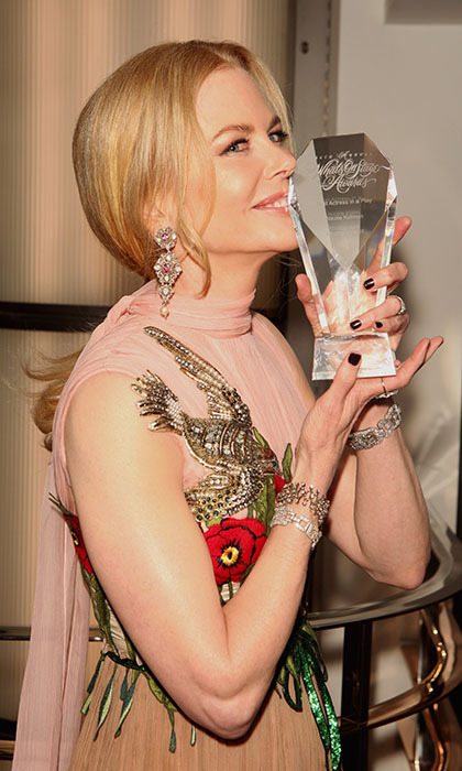 Nicole Kidman added another trophy to her collection by picking up <i>WhatsOnstage</i>'s Best Actress in a Play award for her performance in <i>Photograph 51</i>.