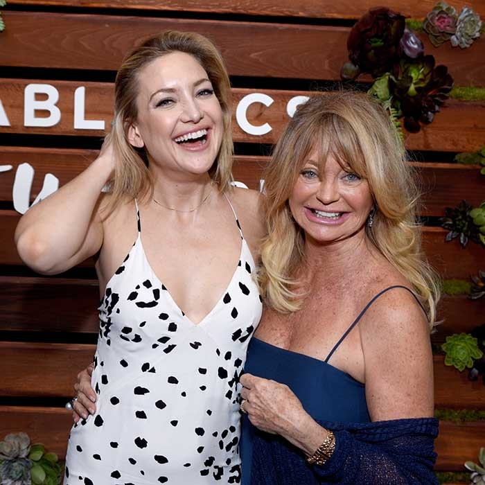 Beautiful mother and daughter team Kate Hudson and Goldie Hawn were all smiles at Kate's book launch in West Hollywood. 