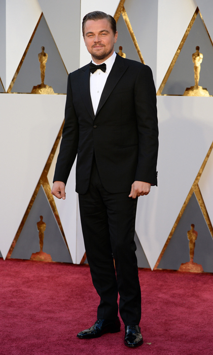 Leonardo DiCaprio in Giorgio Armani. 