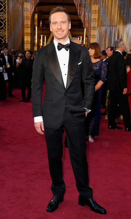 Michael Fassbender in Tom Ford. 