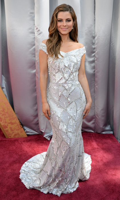 Maria Menounos in Christian Siriano.