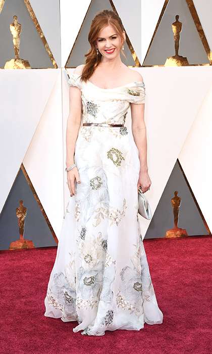 Isla Fisher in Marchesa. 