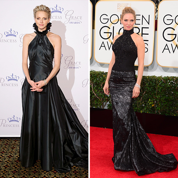 <h2>Princess Charlene of Monaco and Uma Thurman</h2>