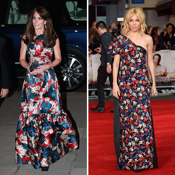 <h2>The Duchess of Cambridge and Sienna Miller</h2>