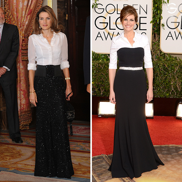 <h2>Queen Letizia of Spain and Julia Roberts</h2>