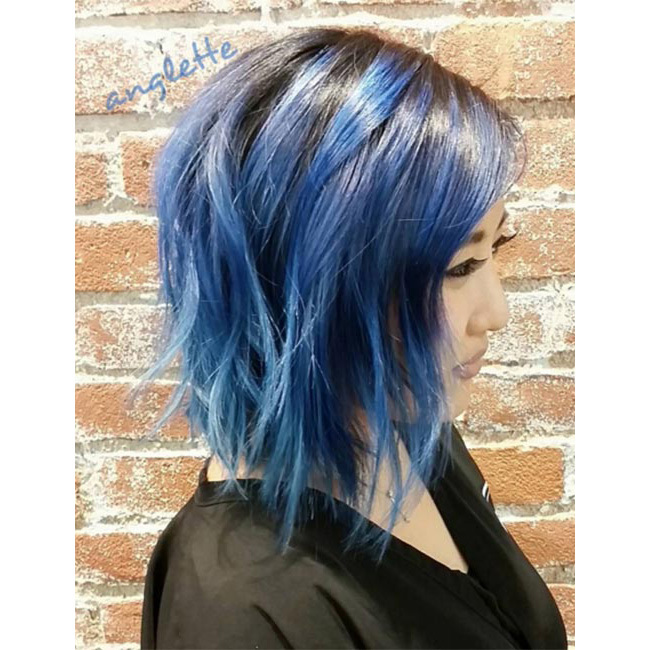 "Go as bold as you like - this is blue hair after all! If you have dark hair, simply add bright blue layers like <a href=""https://www.instagram.com/anglette/"" target=""_blank"">@anglette</a> for a showstopping finish.
