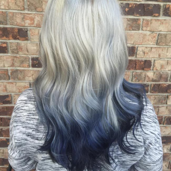 "Ombré looks amazing with this hair trend - dip dye the ends of your tresses dark blue hues like <a href=""https://www.instagram.com/essjaycreations/"" target=""_blank"">@essjaycreations</a> to get the look.