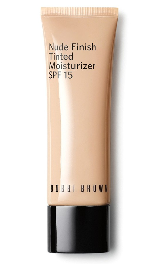 "<b>Bobbi Brown Nude Finish Tinted Moisturizer SPF 15, $53, <a href=""http://www.bobbibrowncosmetics.ca/product/14009/40368/Skincare/Tinted-Moisturizer/Nude-Finish-Tinted-Moisturizer-SPF-15/SS16"">bobbibrowncosmetics.ca</a></b>
