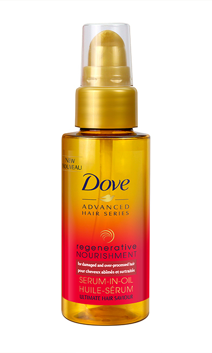 "<b>Dove Regenerative Nourishment Serum–in–oil, $12, at drugstores and mass-market retailers, <a href=""http://www.dove.ca/en/"">dove.ca</a></b>