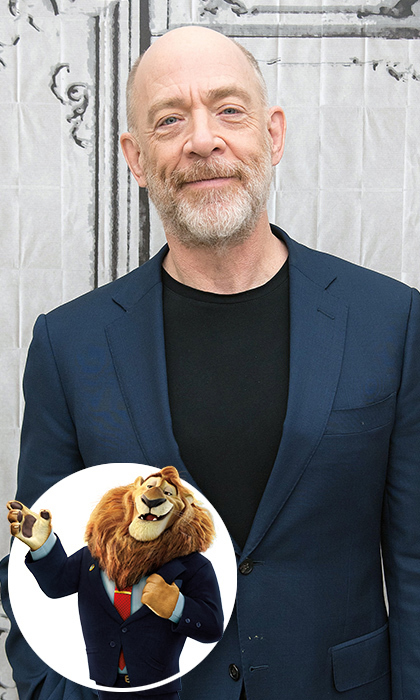 <i>Whiplash</i> star J.K. Simmons plays the head of <i>Zootopia</i>'s governing body Mayor Leodore Lionheart. The actor's booming voice is the perfect fit for a character who holds such an authoritative position. 