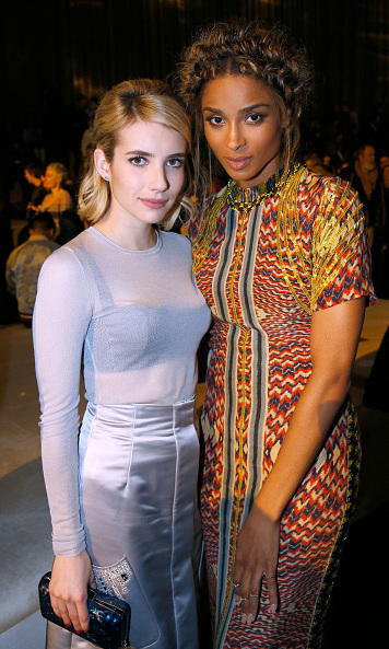 Emma Roberts and Ciara looked stunning during the H&M presentation.