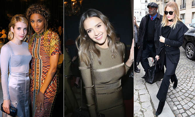 Paris Fashion Week (PFW) always attracts a host of the both the fashion world and Hollywood's biggest stars. And the French capital's AW16 extravaganza is no different – from Jessica Alba to Kanye West and Olivia Palermo, here's a look at all of the PFW star attendees...