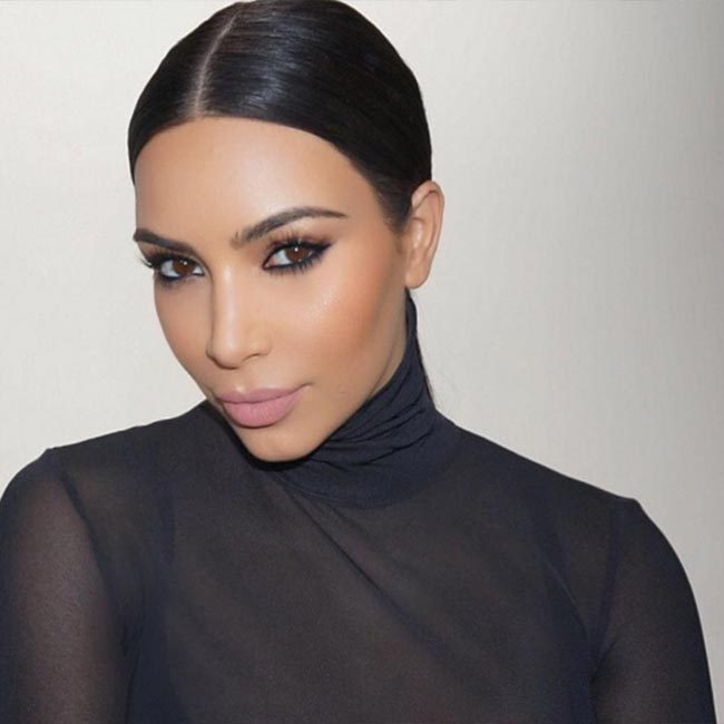 Kim Kardashian looked as flawless as ever, choosing the pale pink KoKo K shade when she filmed a beauty tutorial with Mario Dedivanovic.