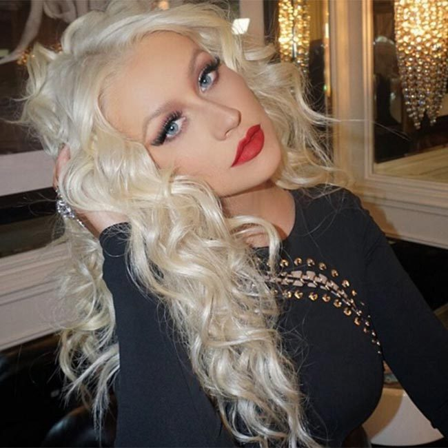 Christina Aguilera's make-up artist revealed he used the lip kit when creating this gorgeous look for the star.