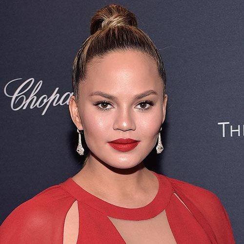 Chrissy Teigen rocked the Mary Jo K shade when she headed to a pre-Oscars party with husband John Legend.