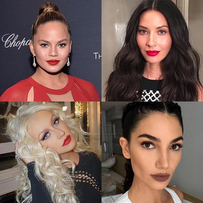 Every time Kylie Jenner has released a new shade of her lip kits, it has sold out in a matter of minutes. However, it's not just the young entrepreneur's fans who have been rushing to get their hands on the highly-coveted beauty must-haves – stars from Chrissy Teigen to Olivia Munn have also been spotted trying out the product.<p>Here, we round up the famous faces who have been rocking Kylie Jenner's lip kits. </p>