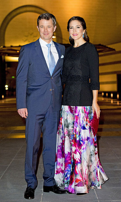 Princess Mary of Denmark with her husband Prince Frederik.