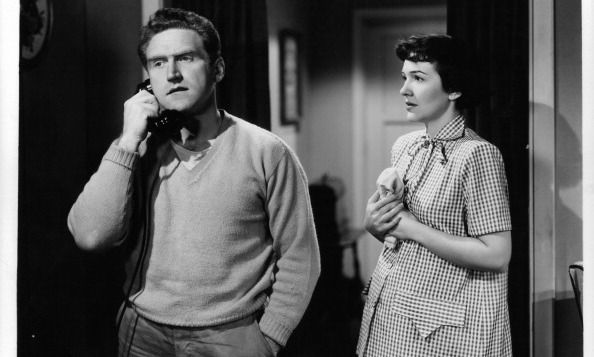 Before Nancy took centre stage as First Lady of the United States, she was in front of the lens as a Hollywood actress. Here she is as then-Nancy Davis acting opposite James Whitmore in a scene from the 1950 movie <i>The Next Voice You Hear...</i> 