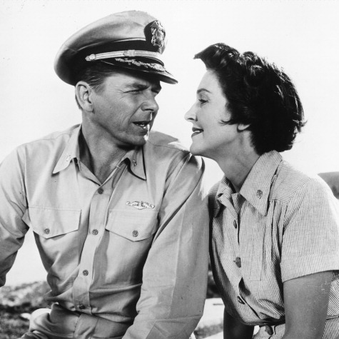 A still from 1957's <i>Hellcats Of The Navy</i>, the only film the two made together.