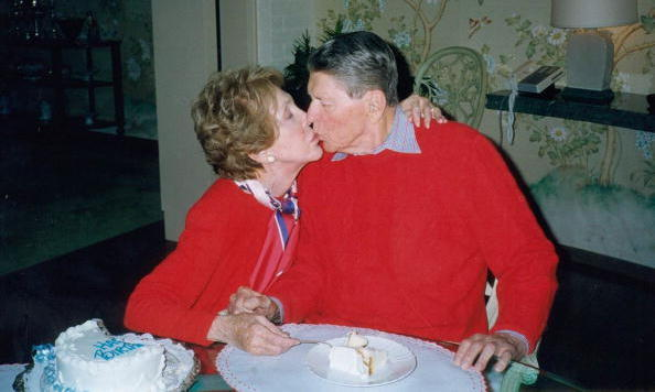 <p>In 1994, five years after leaving office, the 83-year-old former President was diagnosed with Alzheimer's disease. His devoted wife became one of the world's most high-profile champions of the battle against the neurological disorder.</p> 