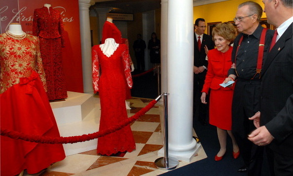 In 2007, Nancy unveiled the 'First Ladies' Red Dress Collection' at the Reagan Library and Museum.