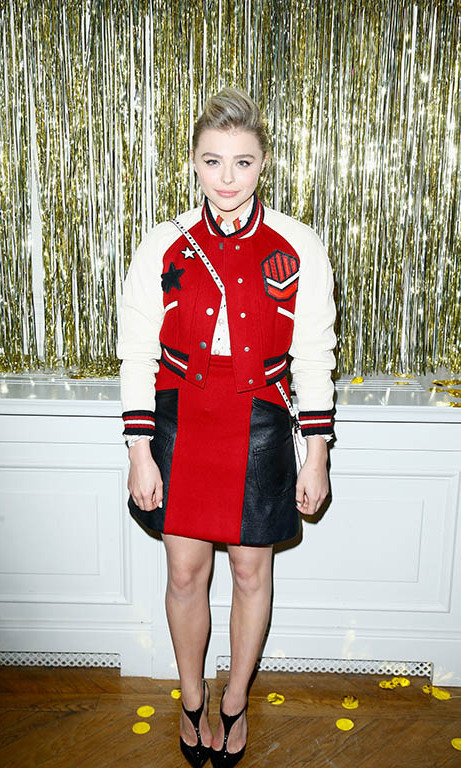 Chloe Grace Moretz attended the prom 2016 party hosted by Coach to launch Paris Fashion Week.
