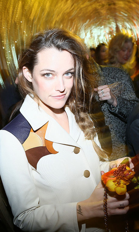 Riley Keough kicked off Paris Fashion Week at the Coach Prom 2016 Party.