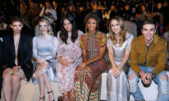Kate Mara, Emma Roberts, Atlanta de Cadenet Taylor, Ciara, Suki Waterhouse and Gabriel-Kane Day-Lewis were all front row and camera-ready during the H&M presentation.