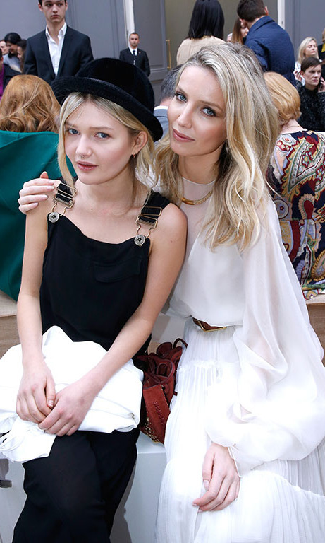 Sophie Kennedy Clark and Annabelle Wallis attended the Chloe presentation.