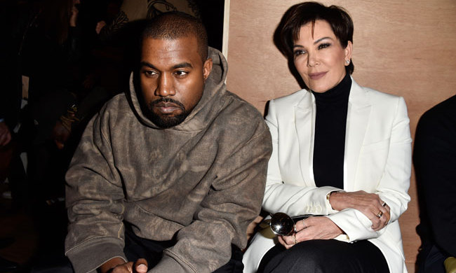 Kris Jenner and Kanye West were dressed to impress while sitting front row at the Balmain fashion show.