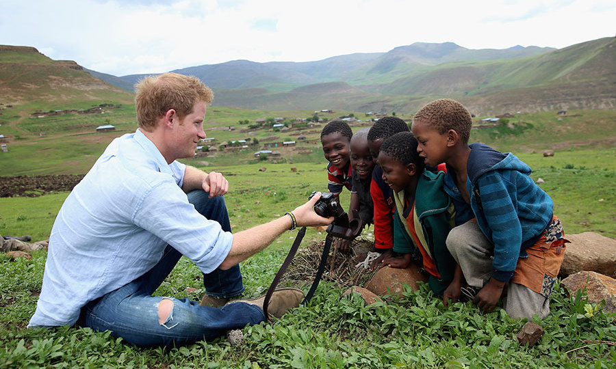 Prince Harry pictured during his visit to Lesotho in December 2014.