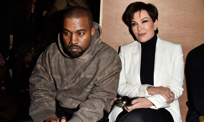 Kanye West and Kris Jenner at Givenchy.