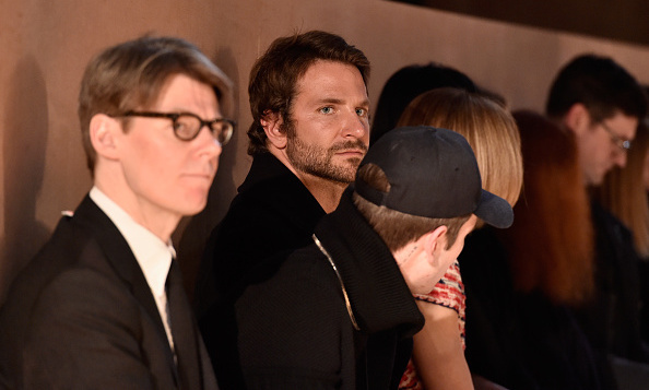Bradley kept his eyes on the action throughout the Givenchy show.