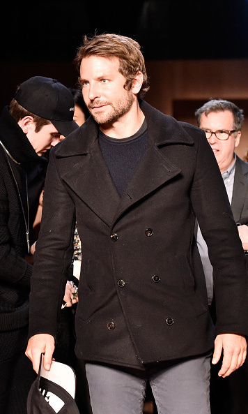 Bradley Cooper is seen arriving to watch girlfriend Irina Shayk in the Givenchy show.