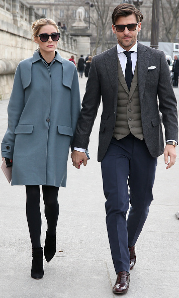 Olivia Palermo and her husband Johannes Huebl made the ultimate fashion duo at the Valentino show.