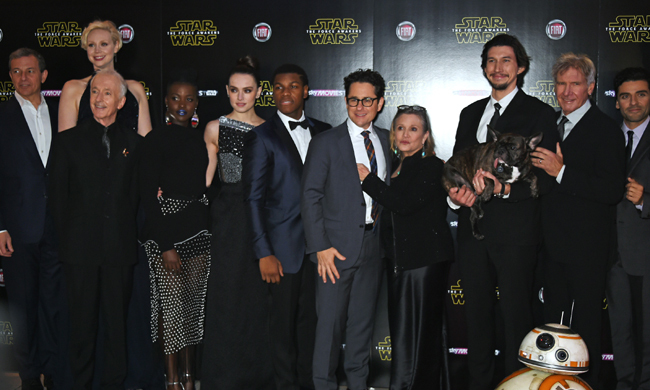 The cast of <em>Star Wars: The Force Awakens</em>