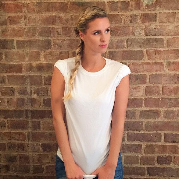 "Nicky Hilton: ""Never underestimate the luxury of a plain white t-shirt  @_arcady""