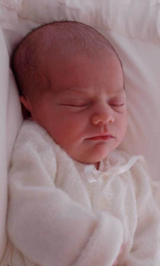 Victoria released a similar image to introduce her daughter Princess Estelle to the world in 2012. Taken when Estelle was four days old, comparisons have already been drawn between the young princess and her newborn baby brother.