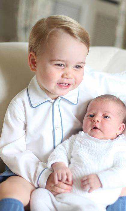 The Duchess also took these sweet images of Prince George with his baby sister just weeks after her birth in May 2015. The adorable images were the first official portraits released of Princess Charlotte, and were taken at the family's country home, Anmer Hall.