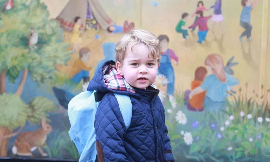 Kate once again turned photographer to capture Prince George's first day at nursery in January. The proud mother released two images of an excited George ready to learn at Westacre Montessori School in Norfolk.